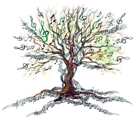 musical ornament: musical tree (series C)