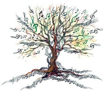 iconos de música: árbol musical (serie C) Foto de archivo