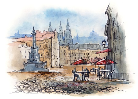 street cafe: Prague (series C)