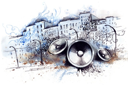 urban grunge: urban sounds (series C) Stock Photo