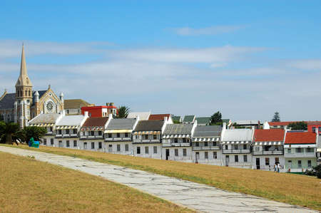The famous houses of Donkin Street in the city of Port Elizabeth - Eastern Cape province in South Africa