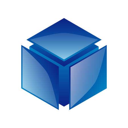 Vecteur de conception d'objets Cube 3D
