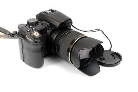 modern profesionalny camera SLR on the white background  photo