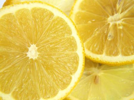 Lemons isolated over white