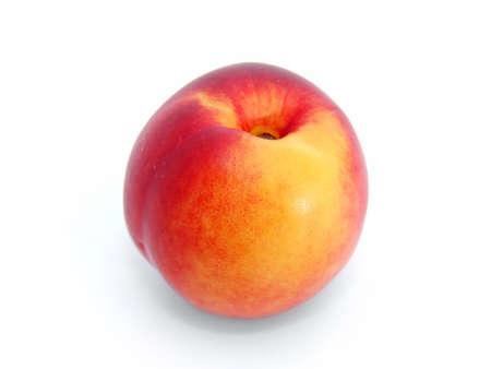fresh nectarine on white background photo