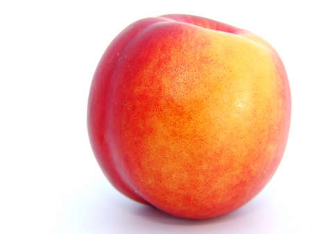 nectarine: fresh nectarine on white background