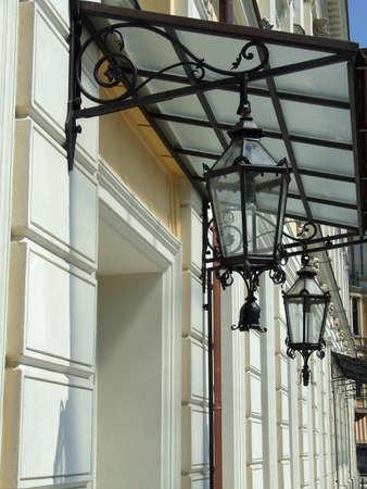the street lamp on the street photo
