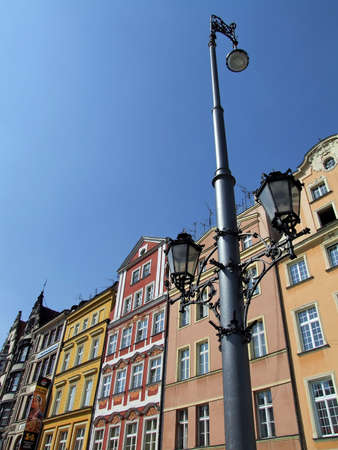 the street lamp on the street photo