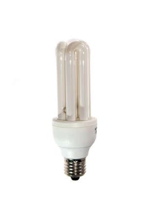 florescent light: Isolated compact florescent light bulb.