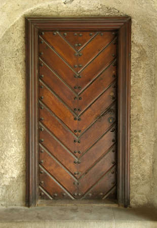 Door of a building in castle, Poland Stock Photo - 3097997