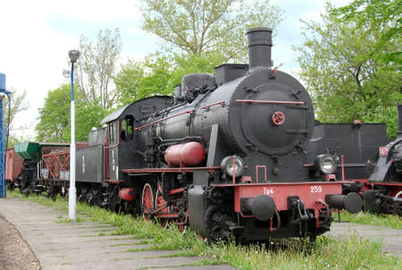 puffing: historic steam train in Poland