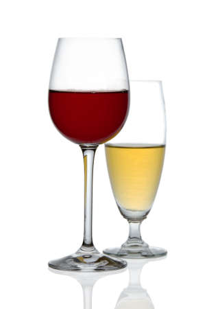 redwine: Two glasses of wine Stock Photo