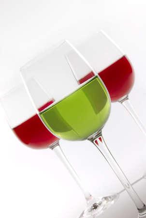Three glasses of wine photo