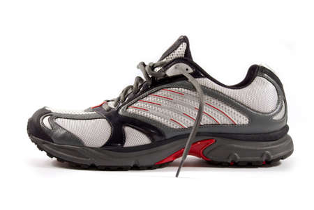 warming up: A pair of brand new running shoes