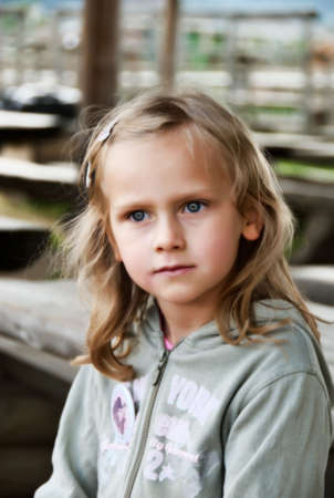 litlle girl in blond hair Stock Photo - 4979029
