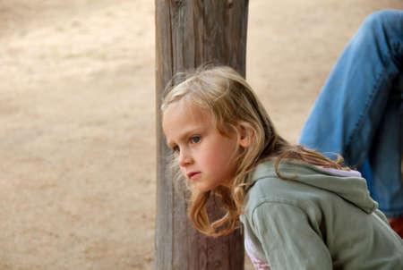 litlle girl in blond hair Stock Photo - 4979042