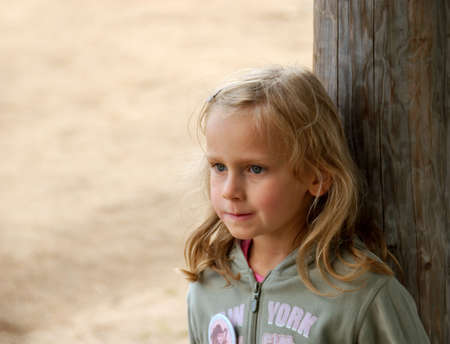 litlle girl in blond hair Stock Photo - 4979030