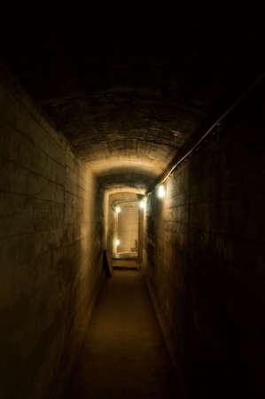 claustrophobia: Underground dark corridor