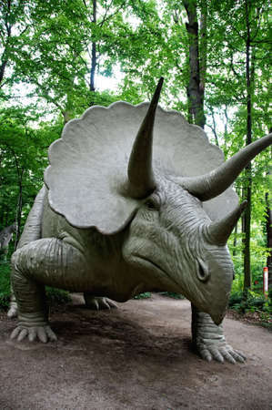 Triceratops in  Saurier Park, Kleinwelka, Germany Stock Photo