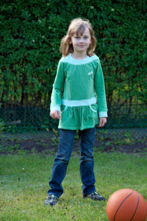 Young girl in green blouse
