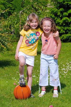 Smiling two girls