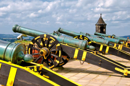 Five Cannons Stock Photo