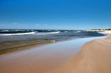 Sunny day on the beach. Baltic, Poland