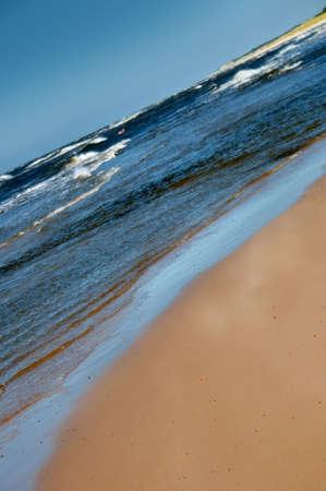 Sunny day on the beach, Baltic, Poland Stock Photo