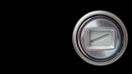 Closeup of closed lens of a slr camera