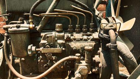closeup shot of old electricity generator for industrial purposes Reklamní fotografie