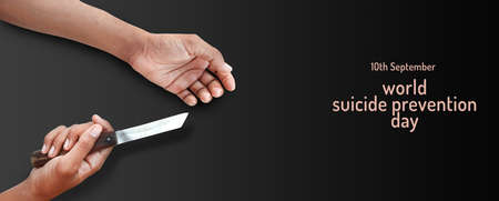 suicide attempt world suicide prevention day concept Standard-Bild