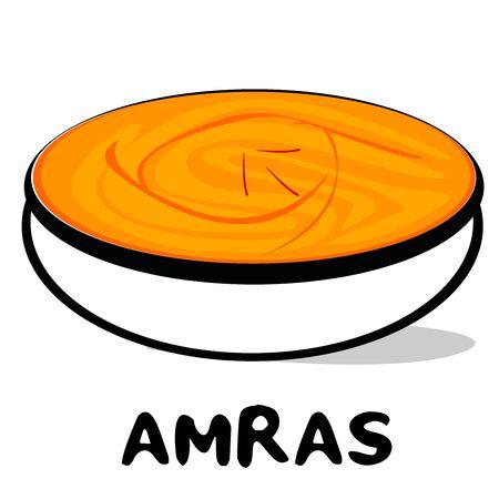 Aamras indian Maharashtra Food Vector