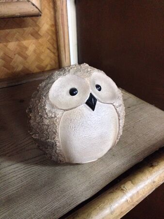 decor: Wooden owl Stock Photo