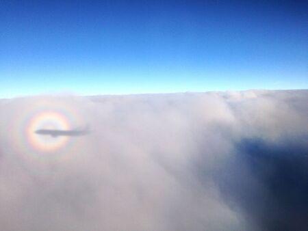 shadow: Shadow on the cloud Stock Photo
