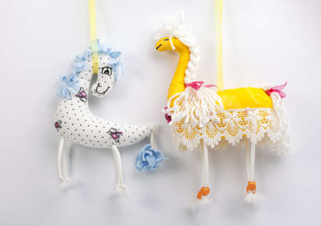 soft toy: Soft toy fun horse. Homemade toy horse.