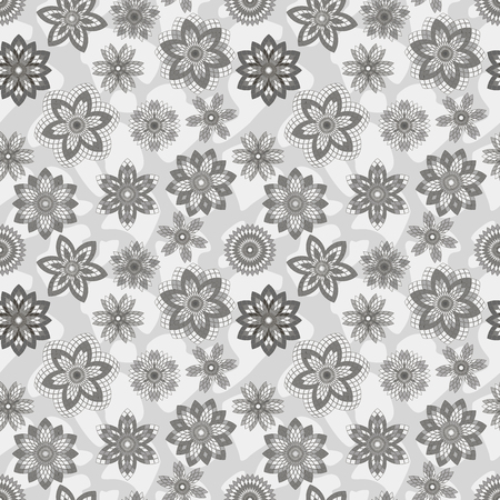 dekor: Seamless vector abstract floral pattern
