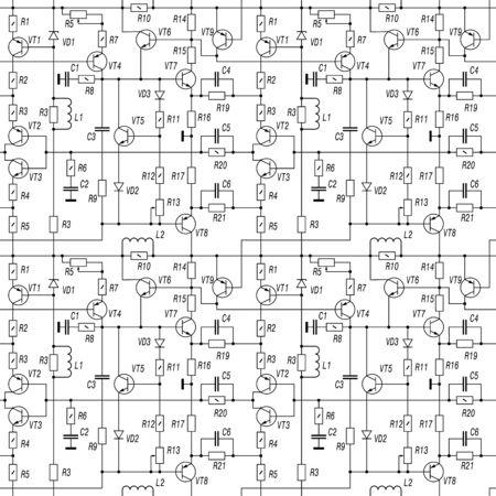 Schematic diagram, Seamless vector background pattern