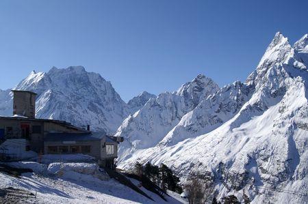 Caucasus Mountains. Dombaj. Ski resort photo