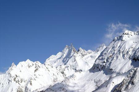 Caucasus Mountains. Dombaj. Winter