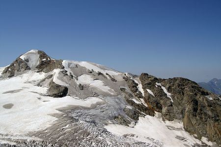 crack climbing: Mountains covered with snow and ice