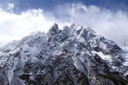 High Mountains. Caucasus. Tsey. Stock Photo