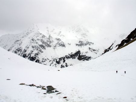 mountainside: Caucasus Mountains. Elbrus region. Gorge Irik-Chat.