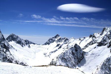 High Mountains. Caucasus. Dombaj. Ski resort