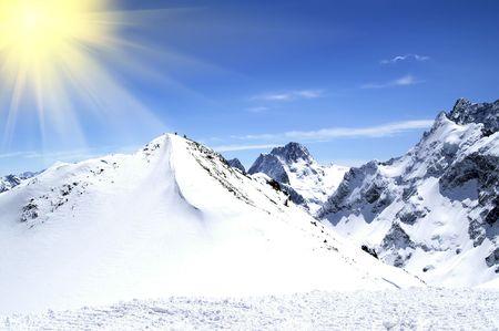 High Mountains. Caucasus. Dombaj. Ski resort. photo