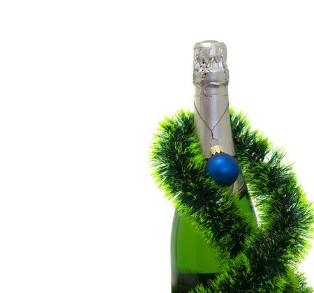 Champagne bottle isolated on a white background Stock Photo - 6052808