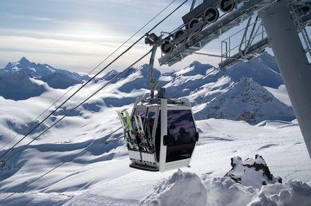 Ski lift. Caucasus. Elbrus photo