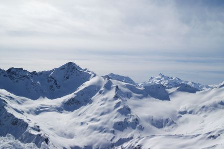 Caucasus Mountains. View from Elbrus. Stock Photo - 6868391
