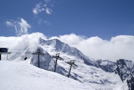 Ski resort. Caucasus Mountains. Dombay Stock Photo - 7564044
