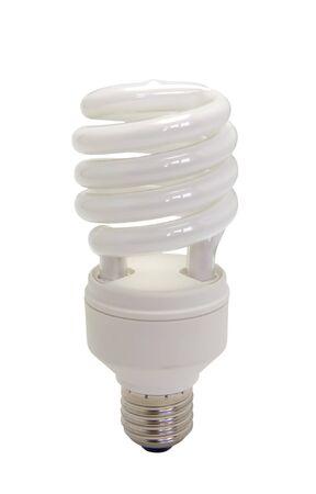 Energy saving bulb isolated on white background photo