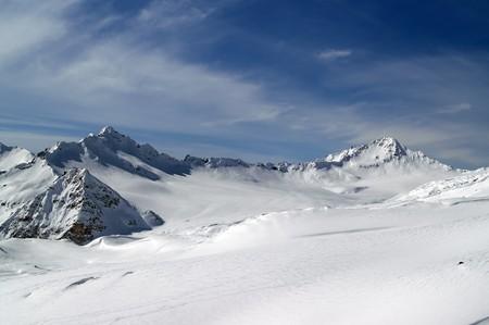Caucasus Mountains. View from the ski slope of Elbrus Stock Photo - 7757785